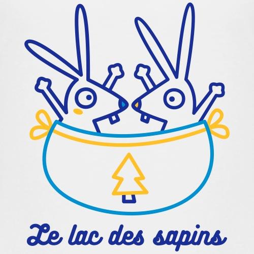 Le lac de sapins - contrepèterie sur fond clair - T-shirt Premium Enfant