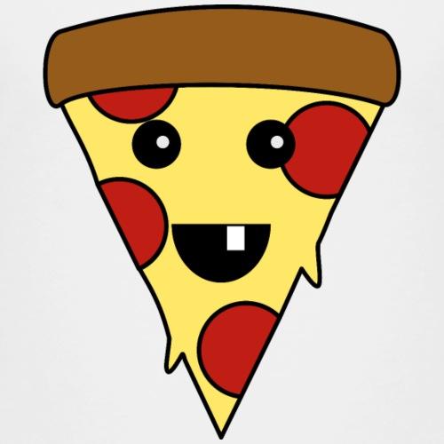 Niedliche Pizza im Kawaii Stil für Pizza Fans - Kinder Premium T-Shirt