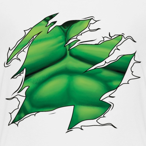 Ripped Green Man - Kids' Premium T-Shirt