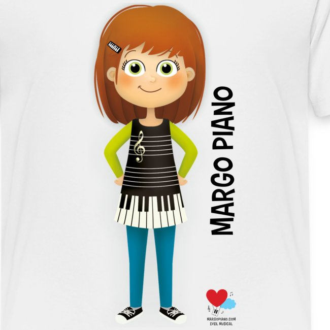 Margo Piano T-Shirt Noir