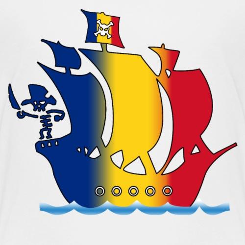 piratenschiff_rumaenien - Kinder Premium T-Shirt