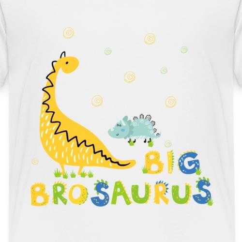 Dinosaurier großer Brudersaurus Kleiner Bruder - Kinder Premium T-Shirt