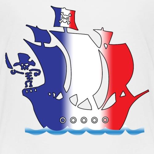 pirate ship france - Kinder Premium T-Shirt