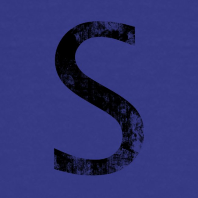 S For Sonnit Black Grunge