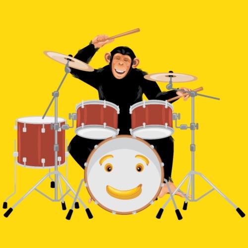 Affe am Schlagzeug - Kids - Kinder Premium T-Shirt