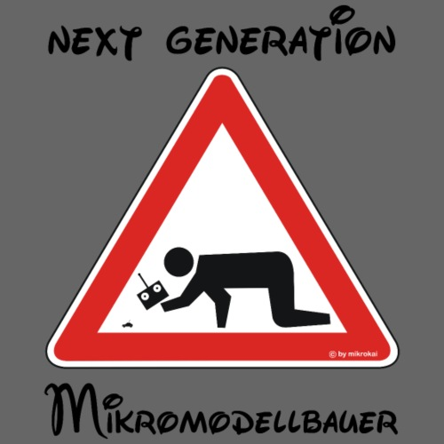 Warnschild Mikromodellbauer Next Generation - Kinder Premium T-Shirt