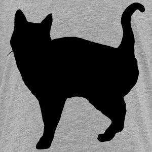 Vector Cat Silhouette - Premium T-skjorte for barn
