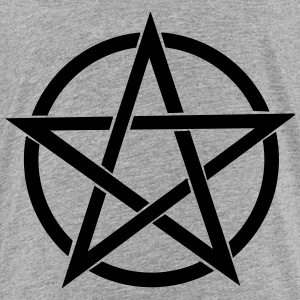 pentagram Wicca - Premium T-skjorte for barn