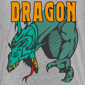 dragon attacking color - Kids' Premium T-Shirt