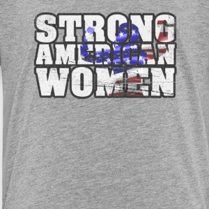Strong American Women - Kinder Premium T-Shirt