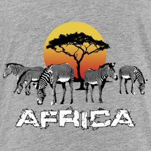 Zebra Africa Sunset Wildlife Safari Kenya - Premium-T-shirt barn