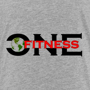 ONE FITNESS Logo - Premium-T-shirt barn