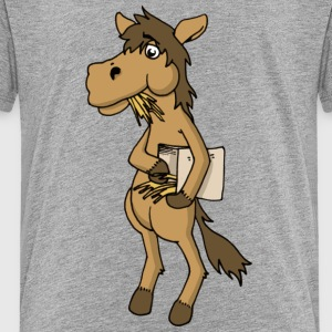 Cool horse horse Horse feed hay animal stable - Kids' Premium T-Shirt
