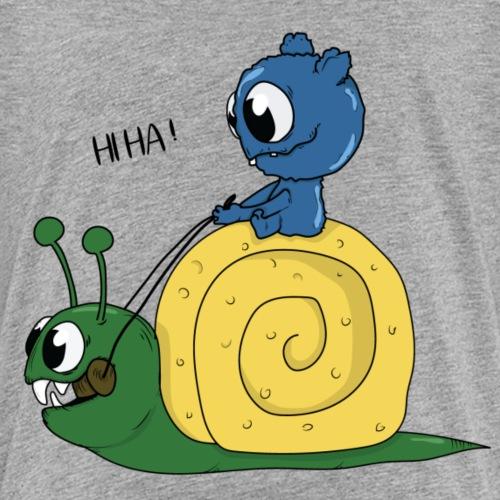 balade à dos d'escargot - T-shirt Premium Enfant