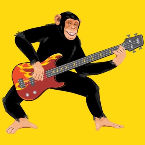 Affe mit E-Bass - Kinder Premium T-Shirt