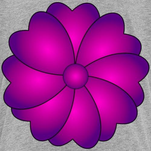 flower heard violet pink - Kids' Premium T-Shirt