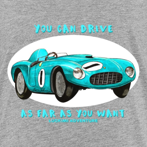 Happy Car Turquoise - Kids - Premium-T-shirt barn