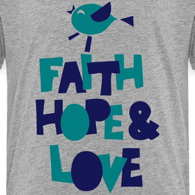 faith hope love frühling