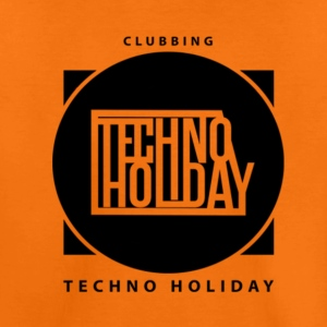 logo_techno_holiday_2017_negro1 - Premium-T-shirt barn