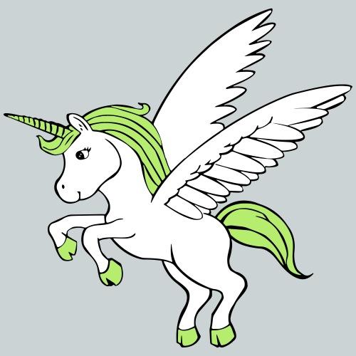 Unicorn with wings - Kids' Premium T-Shirt