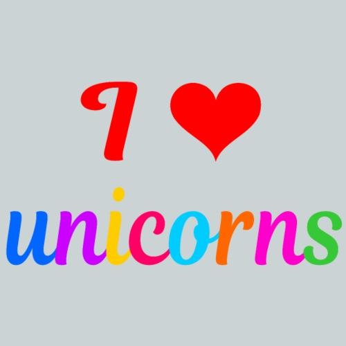 I love unicorns - Kids' Premium T-Shirt