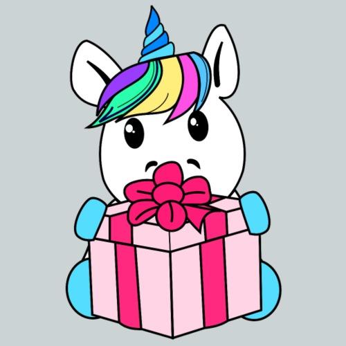 Unicorn with gift - Kids' Premium T-Shirt