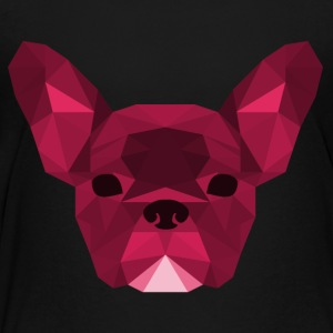 Low Poly Frenchie roze - Kinderen Premium T-shirt
