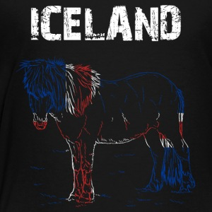 Nation-Design Island Horse - Premium T-skjorte for barn