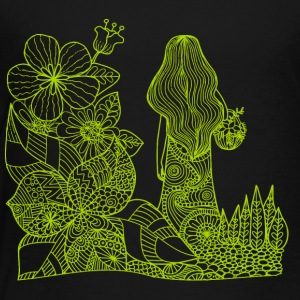 mother nature drawing green - Kids' Premium T-Shirt