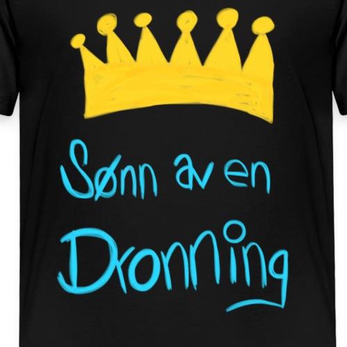 Sønn av en dronning - Premium T-skjorte for barn