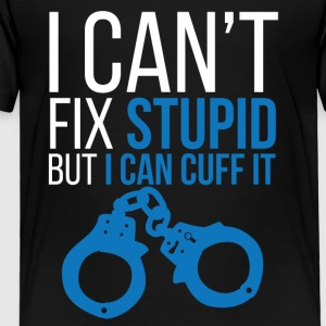 Polizei: I can´t fix stupid but i can cuff it. - Kinder Premium T-Shirt