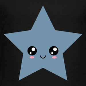 Star Kawaii, Gesicht, Manga, Comic, Comics, Anime, - Kinder Premium T-Shirt