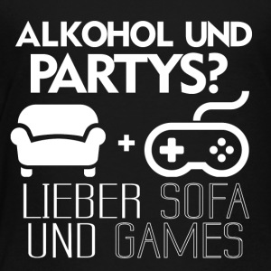 Sofa und Games! - Kinder Premium T-Shirt