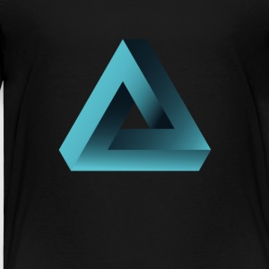 illusion optisk illusion pyramide illuminati ne - Børne premium T-shirt