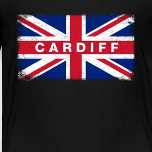 Cardiff Shirt Vintage United Kingdom Flag T-Shirt - Kids' Premium T-Shirt