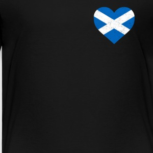 Skottland Flagg skjorte Heart - Scottish shirt - Premium T-skjorte for barn