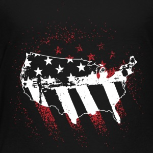 Flag USA! Amerika! Stolte Patriots! - Premium T-skjorte for barn