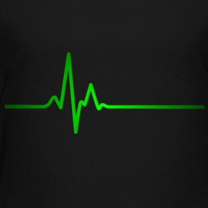 Heartbeat green - Kinder Premium T-Shirt