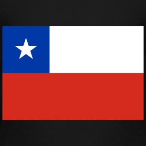 National Flag Of Chile - Premium-T-shirt barn