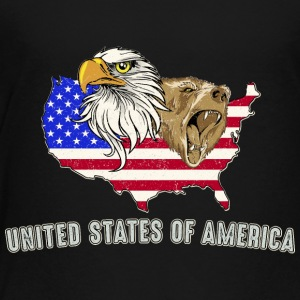 USA Adler eagle grizzly bjørn America America - Premium T-skjorte for barn