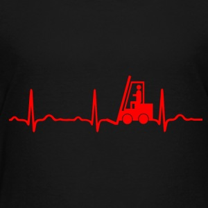 ECG HEARTS STACKLERFAHRER red - Kids' Premium T-Shirt