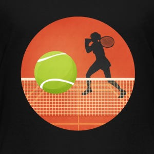 Tenniskreis with player and ball - Kids' Premium T-Shirt