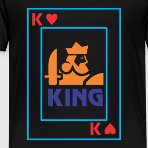 KING playing card - Kids' Premium T-Shirt