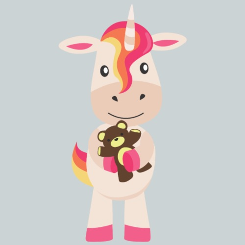 Unicorn with teddy - Kids' Premium T-Shirt