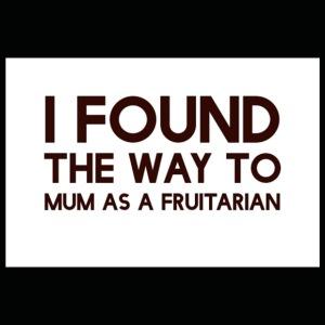 The way to mum is fruitarian - Premium T-skjorte for barn
