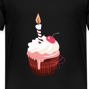 Cupcake with candle - Kids' Premium T-Shirt