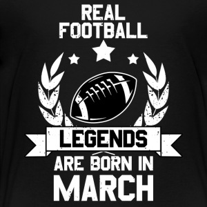 Football Legends! Verjaardag March maart - Kinderen Premium T-shirt