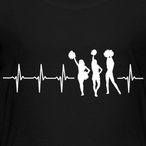 I love cheerleading (cheerleading heartbeat) - Kids' Premium T-Shirt