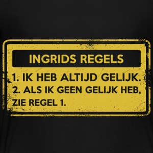 Ingrid rules. Original gift. - Kids' Premium T-Shirt