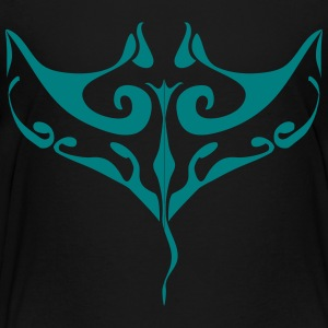 Manta Ray tatovering - Børne premium T-shirt